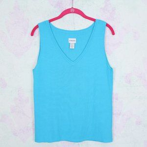 Chico's 2 Turquoise Tank Top Sweater Shell